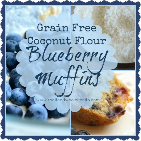 Gluten-Free Blueberry Muffins with Coconut Flour -