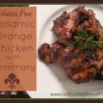 Balsamic Orange Chicken with Rosemary