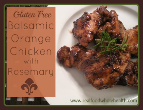 Balsamic Orange Chicken with Rosemary -