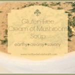 Cream of Wild Mushroom Soup (gluten free)