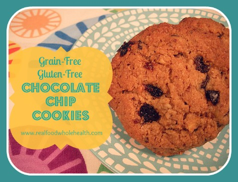 Grain Free Gluten Free Chocolate Chip Cookies