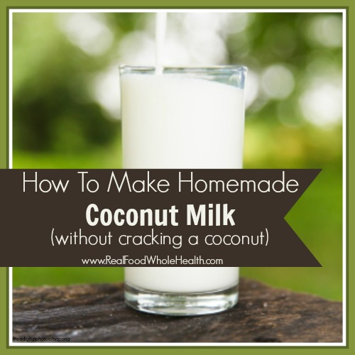 How To Make Your Own Coconut Milk- without cracking coconuts on your kitchen counter!