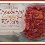 Quick and Easy Cranberry and Orange Relish