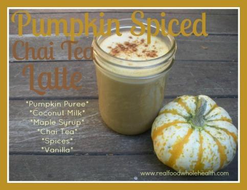 Pumpkin Spiced Chai Tea Latte