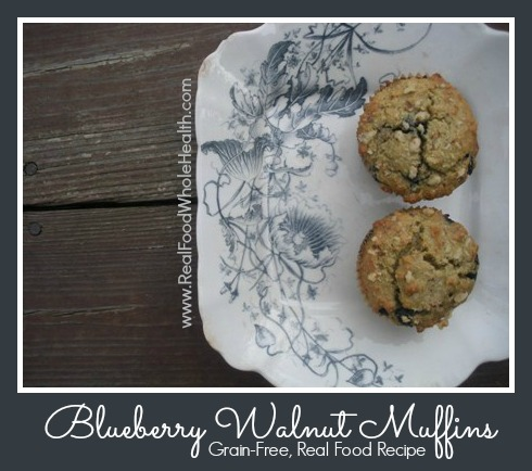 Blueberry Walnut Muffins by Real Food Whole Health