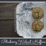 Grain Free Blueberry Walnut Muffins