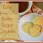 Easy Grain Free Butter Sugar Cookies with Coconut Flour