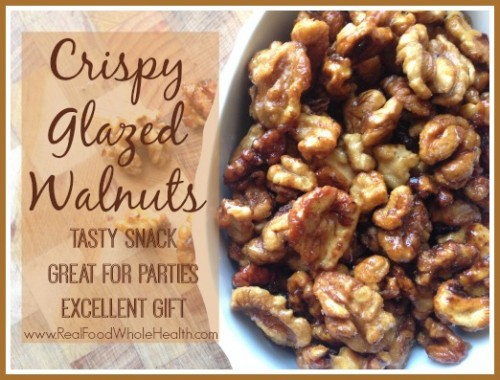Crispy Glazed Walnuts- A Real Food Version of Chinese Fried Walnuts
