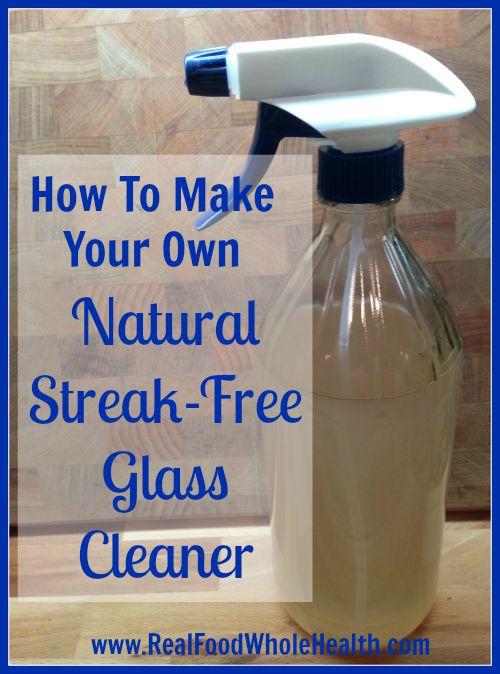Streak Free Natural Window Cleaner