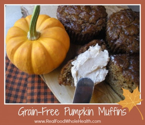 Grain Free, Gluten Free Pumpkin Spice Muffins with Cinnamon Cream Cheese Spread