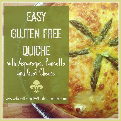 Easy Gluten Free Quiche Asparagus Pancetta and Goat Cheese