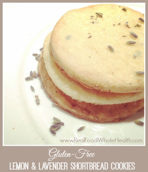 Easy Gluten Free Lemon Lavender Shortbread Cookies