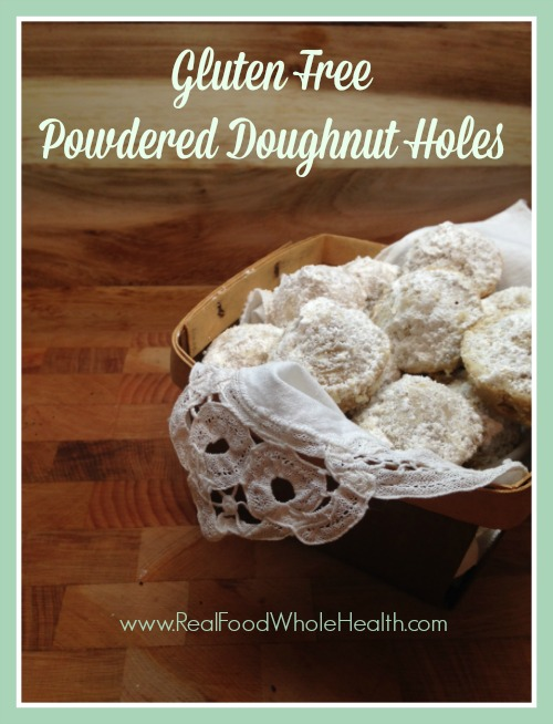 Gluten Free Powdered Doughnut Holes