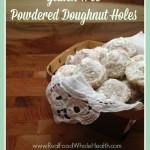 Gluten Free Powdered Doughnut Hole Recipe