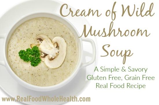 Homemade Cream of Wild Mushroom Soup